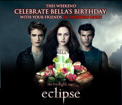 Edward, Bella, Jacob & en t�rta xD