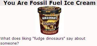 Jag är en Ben o Jerrys fossil, haha
