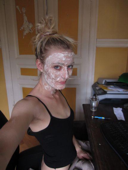 ansiktsmask honung bakpulver