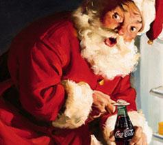 Älskar Coca colas julreklamer, tomten är så mysig, hihi!