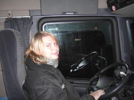 Här e jag i min fräcka lastbil...