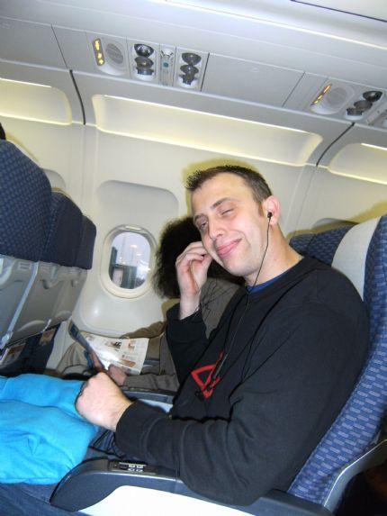 Stefan tycker att det är jättekul med flygturer